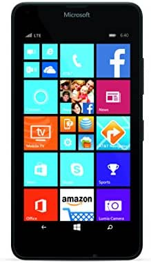 Microsoft Lumia 640 Windows 8.1 Phone, 4G LTE 5 Inch Display 1GB RAM 8GB ROM (AT&T Go Phone No Annual Contract)
