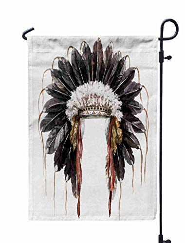 Shorping Welcome Garden Flag, 12x18Inch War Watercolor for Holiday and Seasonal Double-Sided Printing Yards Flags -