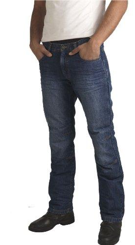 Los pantalones vaqueros de la motocicleta para los hombres ...