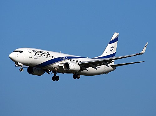 Home Comforts LAMINATED POSTER Israeli Airlines Flight Take Off Boeing 737 Poster 24x16 Adhesive (Israeli Airlines)