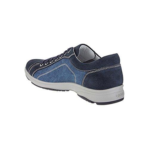 Igi & Co Baskets Basses En Daim Et Tissu Bleu Pour Homme