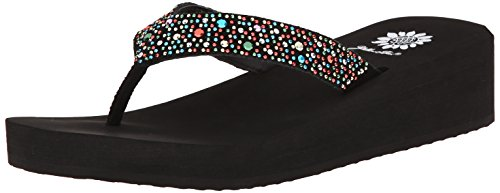 yellow box rhinestone flip flops - 2