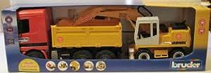 Bruder Mercedes Benz Actros Dump Truck Cab with 912 Liebherr Backhoe Excavator