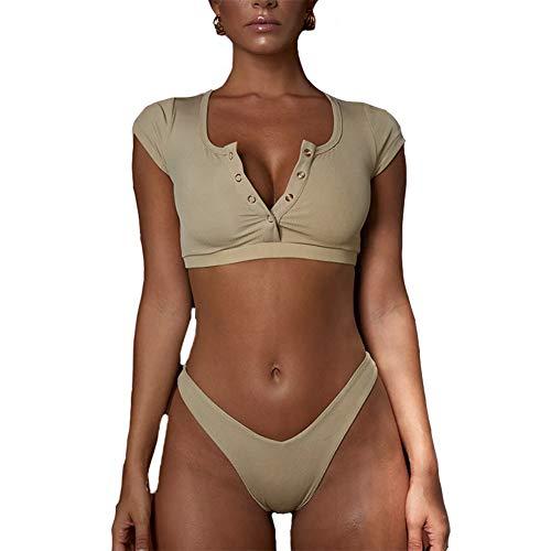Khaki Bikini Set in Australia - 8