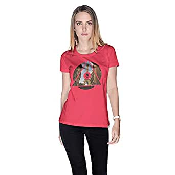 Creo Paris T-Shirt For Women - S, Pink