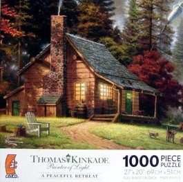 Amazon Com Thomas Kinkade Painter Of Light A Peaceful Retreat