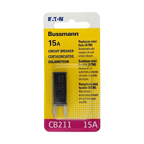 (Bussmann (BP/CB211-15-RP) 15 Amp Type-I ATM Mini Circuit Breaker)