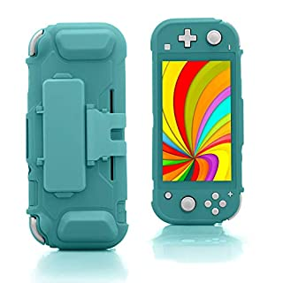 TPU Case for Nintendo Switch lite, Protective Case for Nintendo Switch lite with Game Card Storage and Kickstand - Turquoise