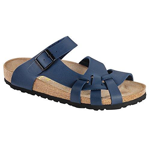 Birkenstock Womens Pisa Sandal Blue Birko-Flor Size 38 EU (7-7.5 M US Women)