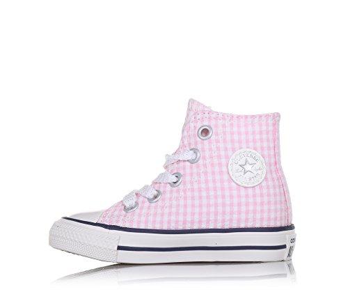 Motivo Bianca Tessuto E Stringata Quadri A Rosa Converse Con Sneaker Ragazza Gomma Punta Bambina In xYAqIn8R