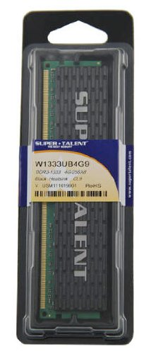 Super Talent Memory 4 Dual Channel Kit DDR3 1333 (PC3 10666) 240-Pin DDR2 SDRAM W1333UB4G9 -