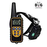 VEPOWER Training Collar for Large Dog Or Small Dog with 2500ft Remote Control Dog Shock Collar IPX7 Waterproof LCD Display Adjustable Size Luminescent Collar