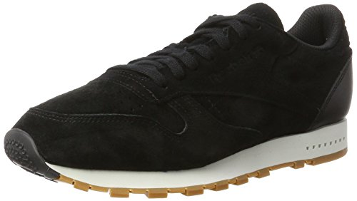 Classic Leather Chalk gum Homme Black Sneakers SG Noir Basses Reebok 5dqpRZw5