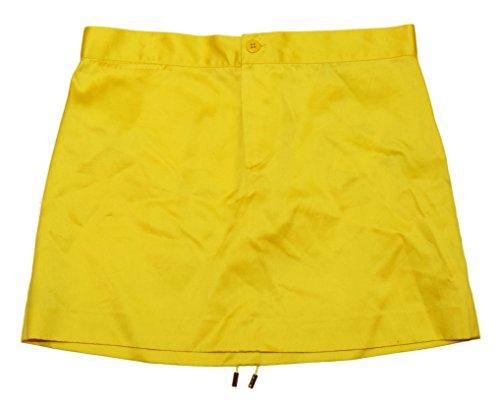 Ralph Lauren Polo Purple Label Womens Silk Cotton Yellow Short Skirt USA 6