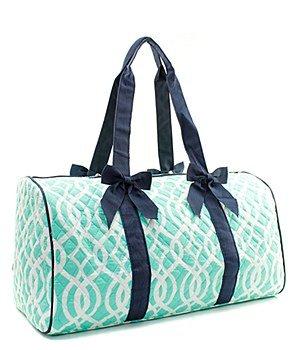 Quilted Vine Shoulder Duffel Bag Mint