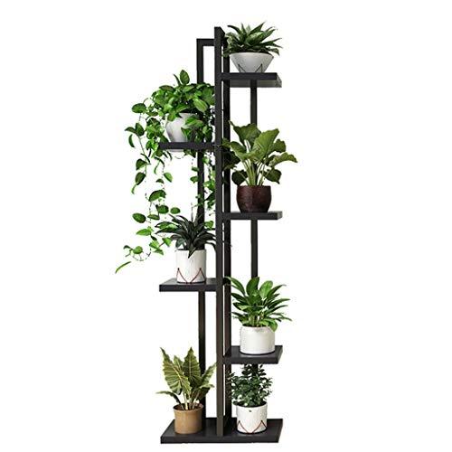 (G-ZWJHLCW Flower Cabinet Flower Pot Rack Trapezoidal Floor Balcony Living Room Multi-Layer Storage Rack Simple Flower Frame Multi-Function Steel Wood Frame 40×20×143CM)