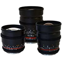 Rokinon Super Fast T1.5 Cine Lens Bundle - 35mm + 24mm + 85mm for Sony E-Mount (NEX)