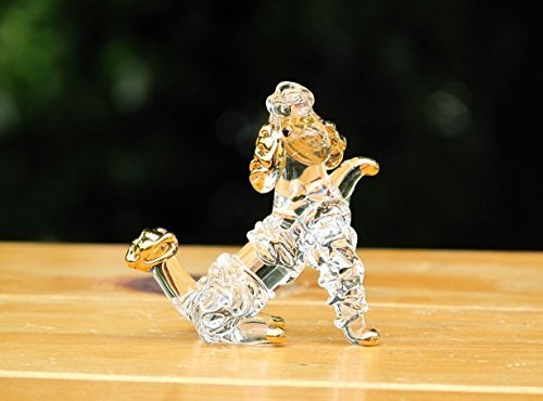 Handmade Poodle Dog Art Glass Blown Pet / Animal Figurine - No.1