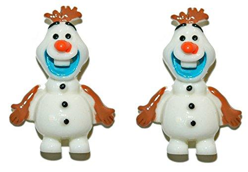 - Olaf Frozen Snowman Resin Christmas Stud Earrings (H145)