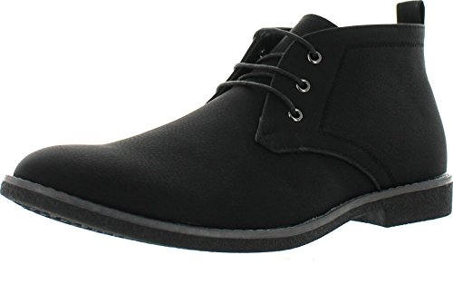 Arider Cooper-03 Men's High-Top Lace Up Chukka Ankle Booties,Black,12 (Men Black Boots)