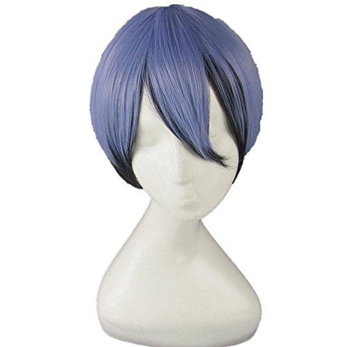 Akuma no Riddle Azuma Tokaku Blue Black Gradien Cosplay Wig + Wig Cap