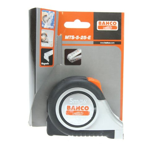 (Bahco MTS-5-25-E Tape Measure - Stainless Steel Construction Grade, 1 x 16-FOOT)