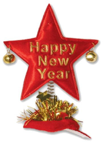 Beistle 80769 Happy New Year Star Hair Clips, 1 Per Package The Beistle Company