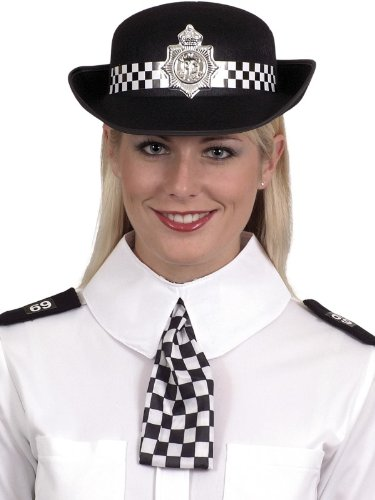 Smiffys Police Woman Kit Lady Cop Fancy Dress Scarf &Epaulettes (Police Fancy Dress Women)