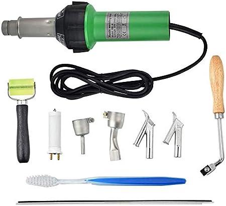 InLoveArts Pistola de calor para soldadura, 1600w 30-680 ℃ Pistola de aire caliente con boquillas de velocidad Rodillo Pe PVC Varilla de plástico, Ruido≤65db para reparar plástico