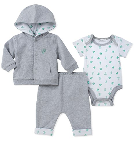 absorba Baby Jacket Set Boys, Gray, 3-6 Months
