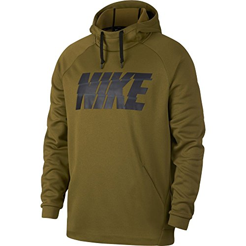 NIKE Men's Therma FIT Pullover Hoodie Grey/White (Medium)