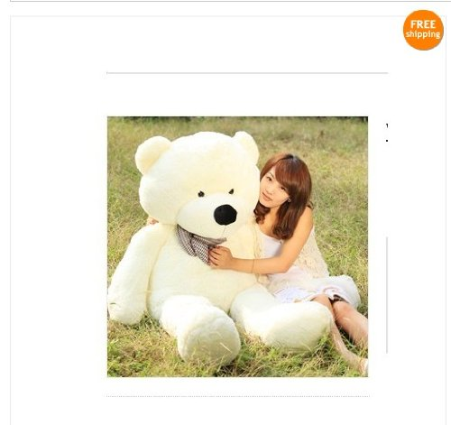 Qiyun 47` White color 1.2M Giant Huge Cuddly Stuffed Animals