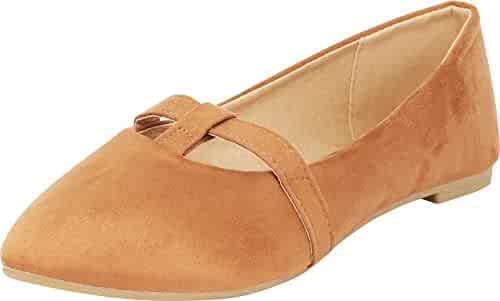 ee7b5f89395 Jynx Women s Pointed Toe T-Strap D Orsay Slip-On Ballet Flat (