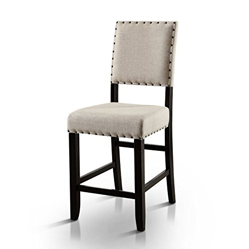 - HOMES: Inside + Out IDF-3324BK-PC Greggory Antique Black Counter-Height Chair (Set of 2)