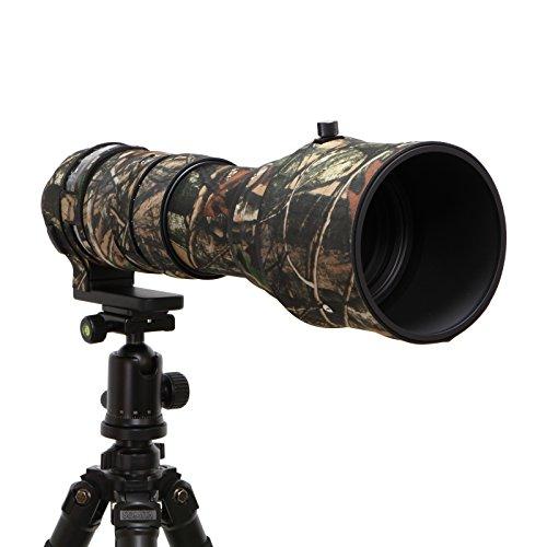 Mekingstudio Sigma 150-600mm Sport Rubber Camera Lens Cover Protective Cover Camo Rain Cover - Forest Green Camo