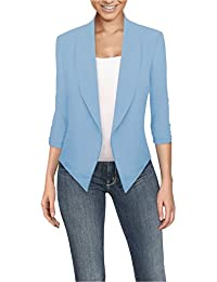 Womens Casual Work Office Open Front Blazer Jacket Made...