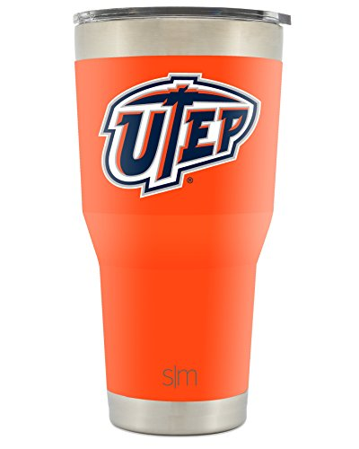 Simple Modern UTEP 30oz Cruiser Tumbler - Vacuum Insulated Stainless Steel Travel Mug - University of Texas El Paso Miners Tailgating Cup College Flask