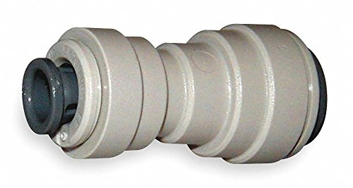 John Guest Acetal Copolymer Reducer Union, 3/8'' x 1/4'' Tube Size - pkg. of 10
