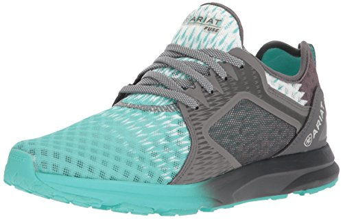 Ariat Women's Fuse Athletic Shoe, Turquoise Gray Ombre Mesh, 5.5 B US