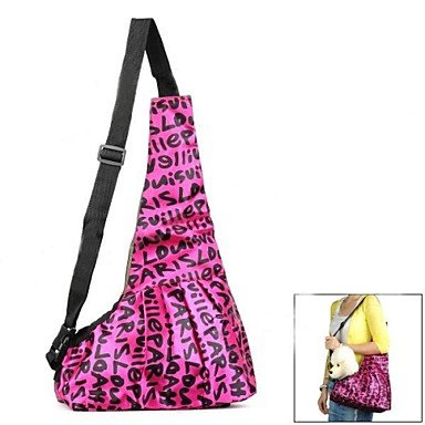 Quick shopping Oxford Fabric Pet Carrying Sling Bag for Dog , Pink , L