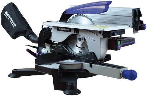 Korman 213209 Sierra ingletadora 1800W 254 mm con mesa superior ...