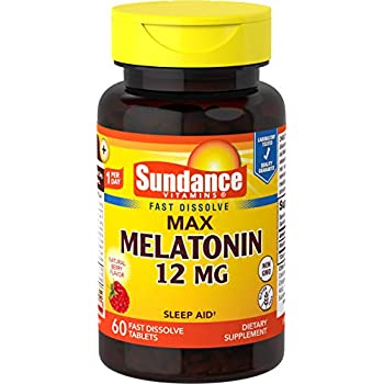 Sundance 12 Mg Melatonin Tablets, 60 Count