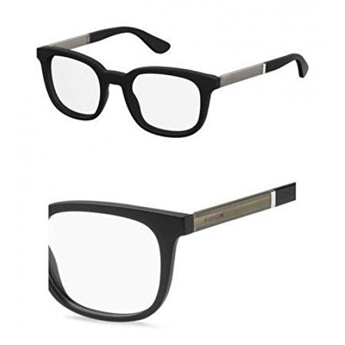 Tommy Hilfiger Plastic Rectangular Eyeglasses 50 0003 Matte Black