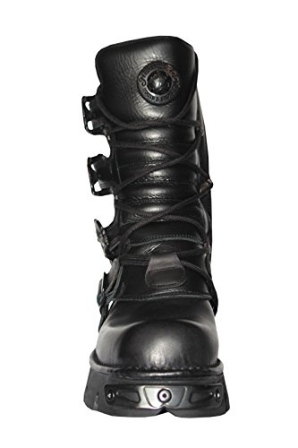 NEWROCK nouveau Rock M. 391-S18 noir métallisé Punk Goth réacteur unisexe motards Negro bottes
