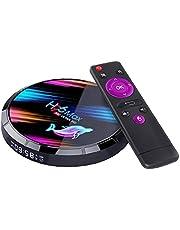 Smart TV BOX H96 Max X3 Quad Core 8K HD Wi-Fi Media Player Compatibel met Android 4 + 64G videoapparatuur