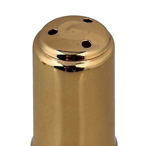 Surfing Brass 7# Nickel-plated E-flat Alto Saxophone Mouthpiece with Cap Ligature Golden by Surfing (Image #5)