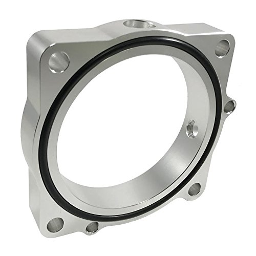 Torque Solution Throttle Body Spacer (Silver): Hyundai Genesis V6 3.8L 2013+ (Ts-Tbs-021)