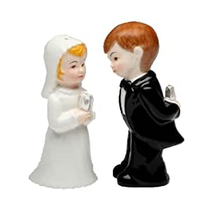 Cute Mini Wedding Couple Salt & Pepper Shaker S/P