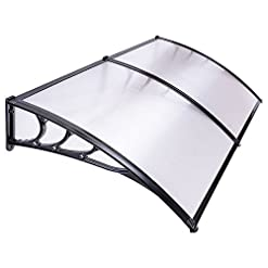Garden and Outdoor Yescom 79×40″ Door Window Outdoor Awning Patio Cover UV Rain Protection 2 Whole Polycarbonate Hollow Sheets patio awnings