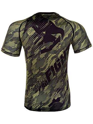 Venum Men's Tecmo Short Sleeve Rash Guard MMA BJJ Khaki Large rash guard mens bjj 2